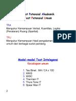 Model- Model Tes