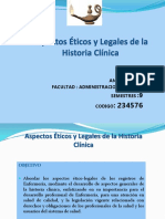Aspectos Éticos y Legales de La Historia Clínica