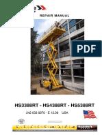 Manual - Servicio Ingles - Haulotte h18 Sdx