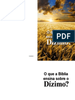 Pbd o Que Abiblia Ensina Sobre o Dizimo 0