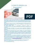 Cómo Tratar La Diabetes Con Homeopatía
