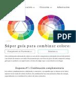 Super Guia Para Combinar Colores