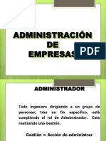 Administracion de Empresas.