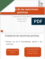 Entalpía de Las Reacciones Químicas (1)