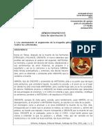 1º Medio Leng. Unidad Nº6 Género Dramático Guía Alumnos II 2014