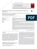 Flexibility, Muscle Strength and Running Biomechanical Adaptations In