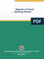 Early Signals of Fraud in Banking Sector