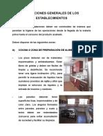 Condiciones Generales de Los Establecimientos[1]