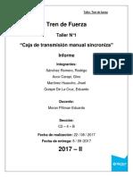 Informe N1 Tren de Fuerza