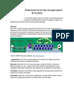 Sistema Para Elaboración de La Hoja de Papel Apartir de La Pasta 2
