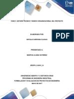 Fase 3. Estudio Tecnico y Marco Organizacional.