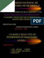 ANÁLISIS Y SELECCIÓN DE INVERSIONES EN MAQUINARIA MINERA