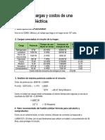 Análisis de Cargas y Costos de Una Instalación Eléctrica.-