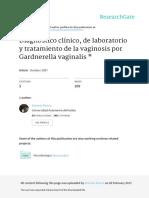 Diagnóstico Clínico de Laboratorio y Tratamiento de La Vaginosis Por Gardnerella Vaginalis