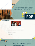 Driving to Outcomes- Success Plans & Scorecards