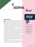 developing decimal sense