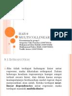 BAB 9 Multikolinearitas Kel 5