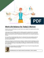 Work Life Balance - PMI WBACVBH