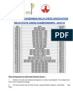 Delhi State Chess Calender Updated New