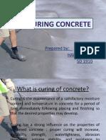 Self Curing Concrete