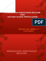 Sap&Pengkajian Kebutuhan Belajar_Florence Nightingale_Annisa Aul Jannaah S_C12116022