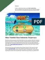 Situs Nembak Ikan Indonesia Terpercaya