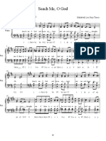 Search Me O God SATB - Piano 1