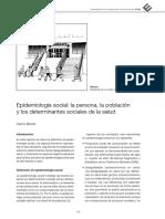 Epidemiología Social La Persona La Población