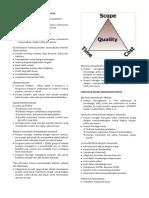 Gambaran Umum Manajemen Proyek