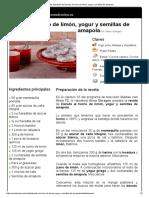 Hoja de Impresión de Donuts Al Horno de Limón, Yogur y Semillas de Amapola