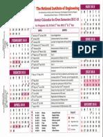 Academic Calendar for Even Sem 2017 18