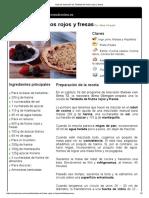 Hoja de Impresión de Tartaleta de Frutos Rojos y Fresas