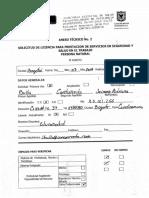 Solicitud de La Licencia en S. O