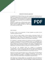 Declaracion -  Cortes de Luz