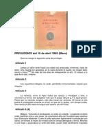 Stendhal-PRIVILEGIOS Del 10 de Abril 1840