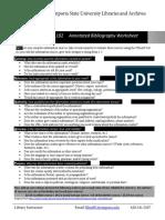 Annotated Bib Worksheet