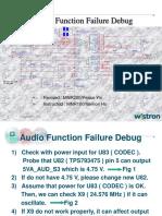Audio Function Failure Debug