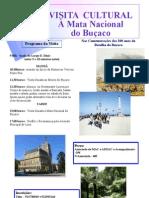 Cartaz da visita à Mata Nacional Bussaço