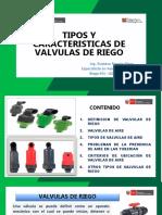 5.- Tipos y Caracteristicas de Valvulas de Riego