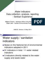 UNECE - Water Indicators - Milijana Ceranic Dejan Lekic-13 May 2014