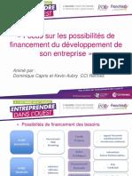 3 Possibilité de Financement Du Développement d'Entreprise - Capris Et Aubry