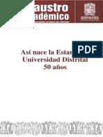 Estampilla Universidad Distrital 50 Años