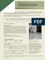 Limestone Material Fact Sheet 022509