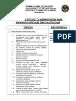 Temarios de Materias Comunesas Para Pirantes a Oficiales Especialistas