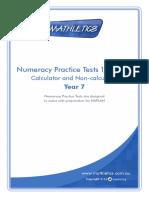 numeracy naplan year 7