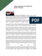 YPFB Andina Prepara Ampliación de La Planta de Yapacaní Para Producir Más Gas