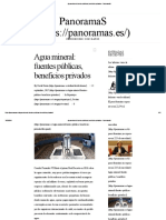 Agua Mineral_ Fuentes Públicas, Beneficios Privados – PanoramaS