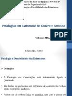 Aula - 3.1 - Patologias Em Estruturas de Concreto Armado - Pde