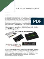 Disco SSD SATA vs M.2 vs Ssd PCI-Express ¿Mejor Para Mi PC