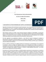 Agenda Foro Interamericano contra la discriminación